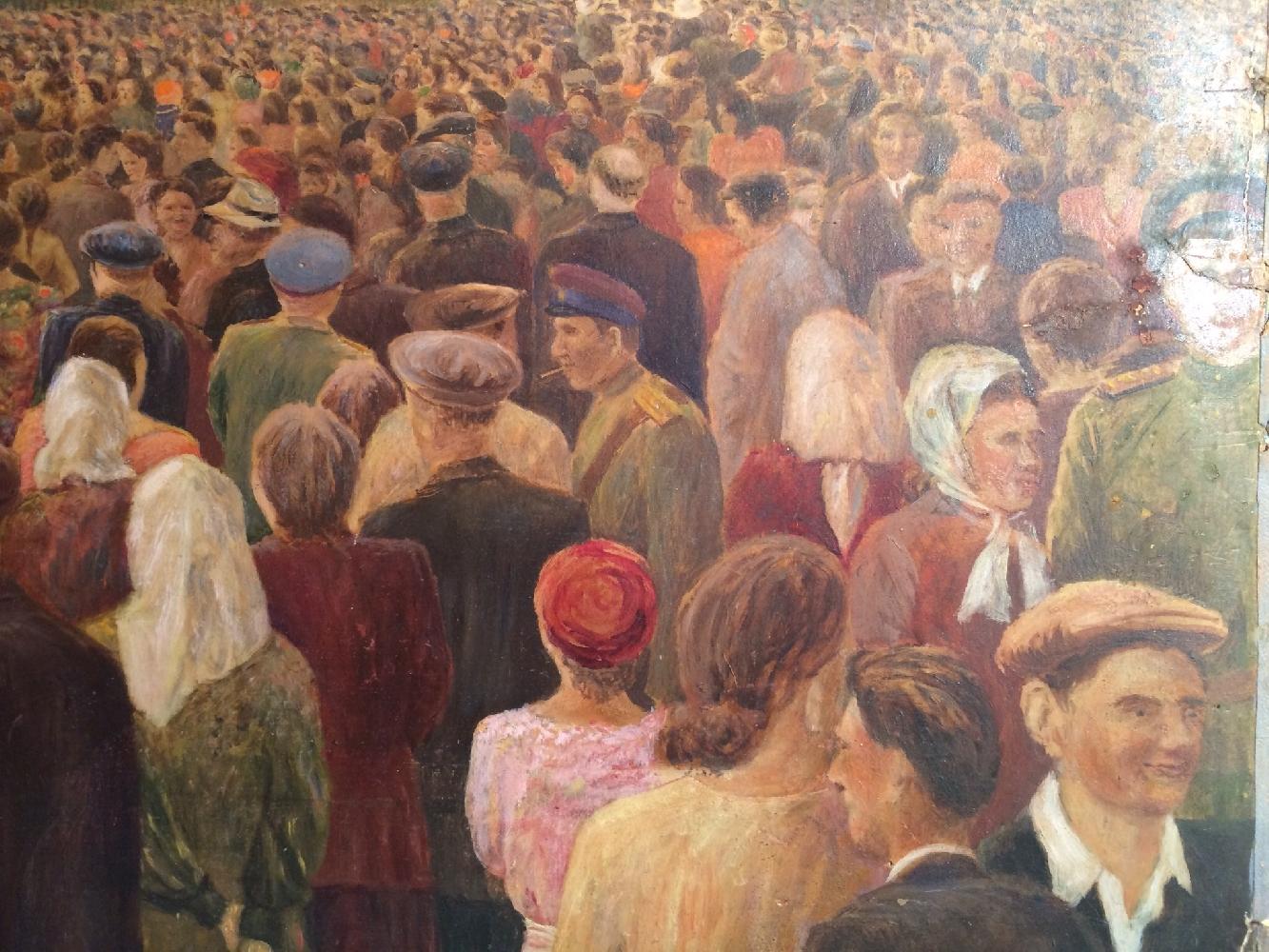 Нефедов В. Гуляния во Фрунзенском районе Москвы в честь 300-летия воссоединения Украины с Россией