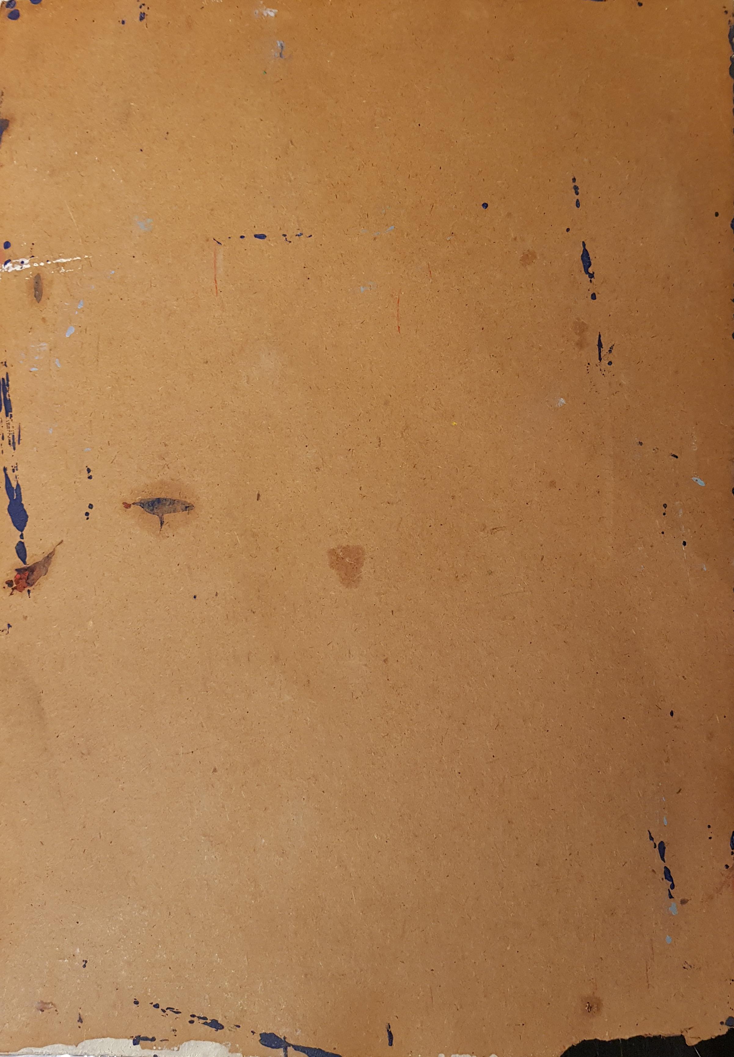Оборот. Зубарев Владислав Константинович. Портрет девушки на синем фоне