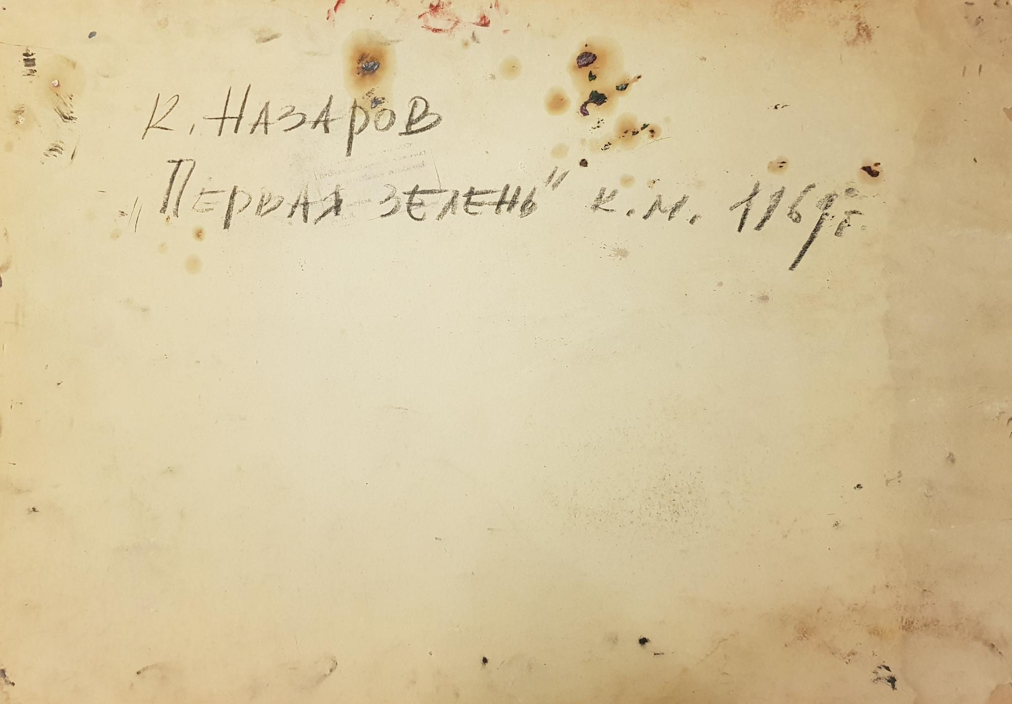 Оборот. Назаров Константин Борисович. Первая зелень