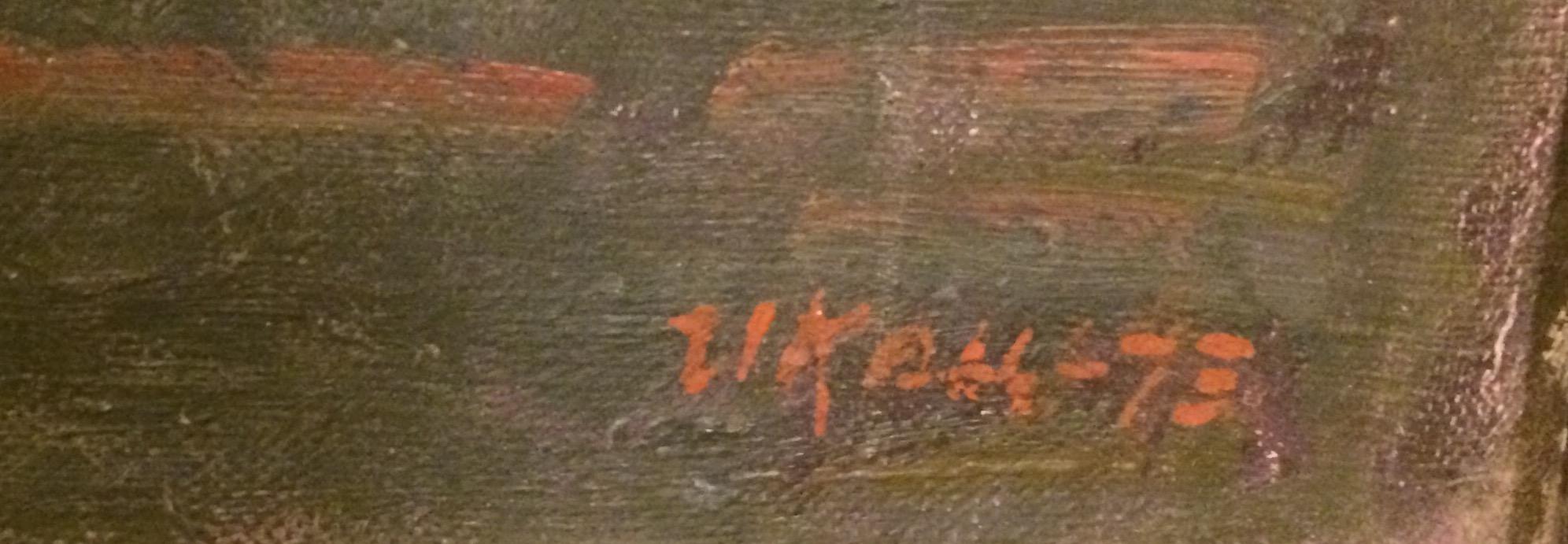 Подпись. Кац Илья Львович. Натюрморт с бутылкой вина.