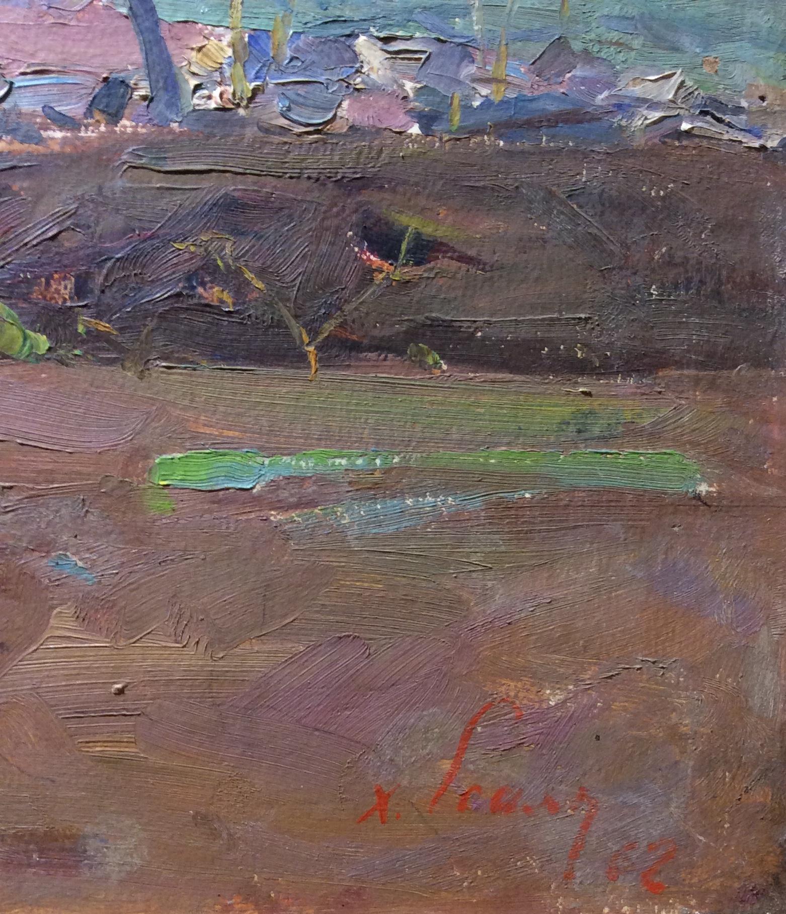 Подпись. Есаян Хачатур Акопович. Цветущий сад