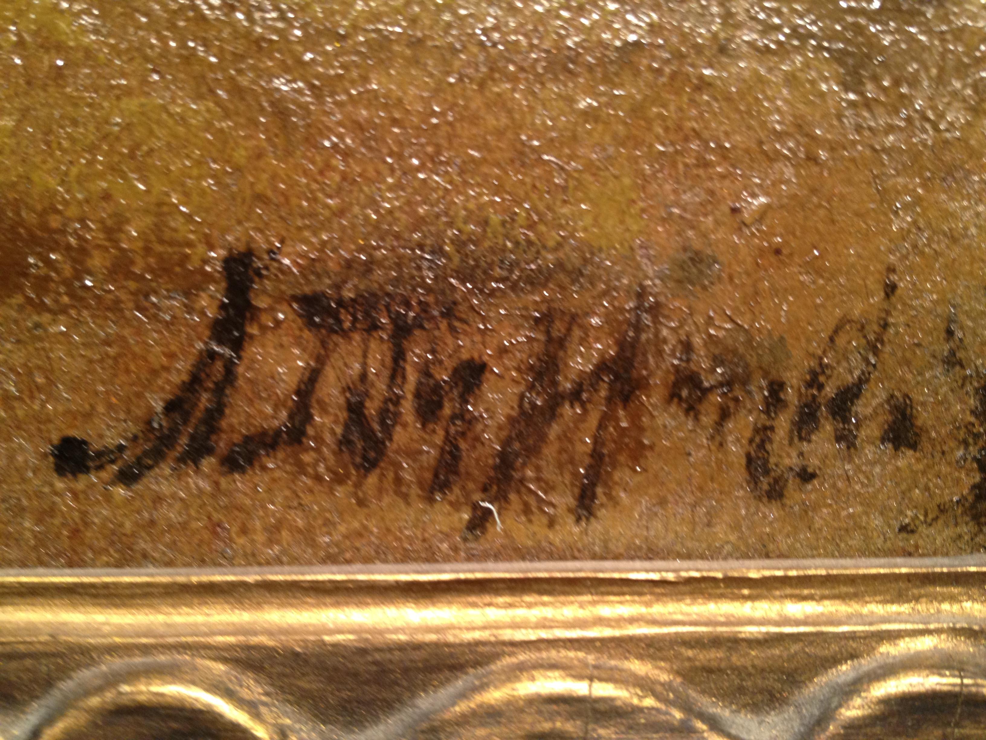 Подпись. Туржанский Леонард Викторович. Лошадки у мельницы.