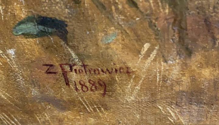 Подпись. Пиотрович Сигизмунд Карлович. Жницы в поле