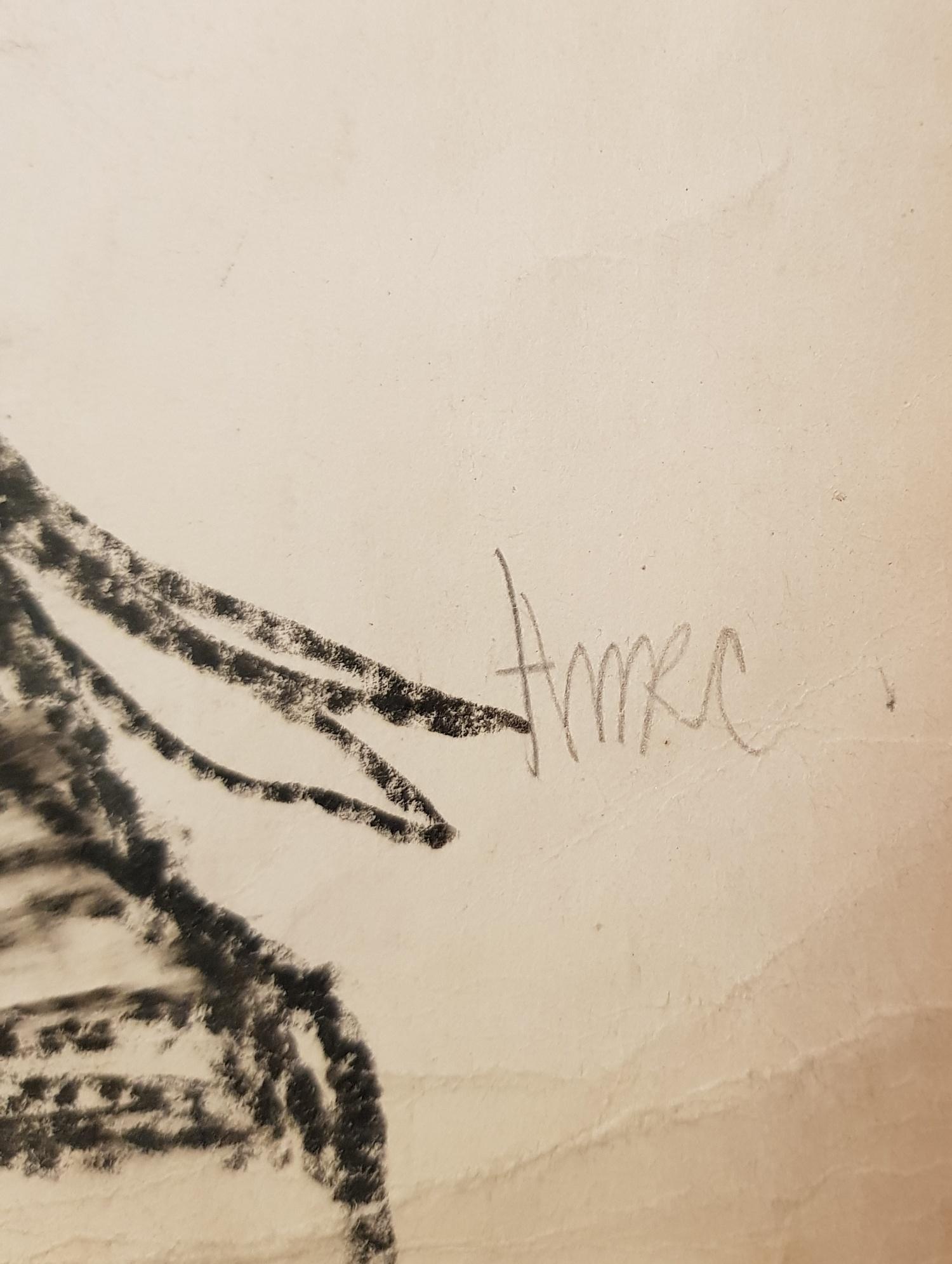 Подпись. Неизвестный художник . Командаром Вася