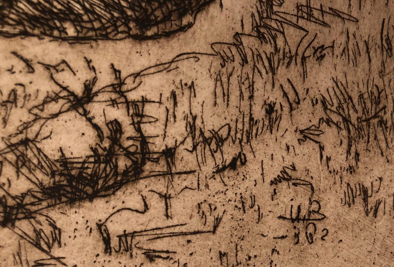 Подпись. Неизвестный художник . Девушка с лукошками