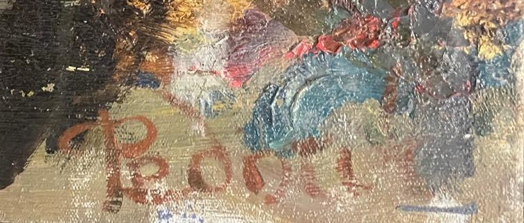 Подпись. Неизвестный художник . Переправа