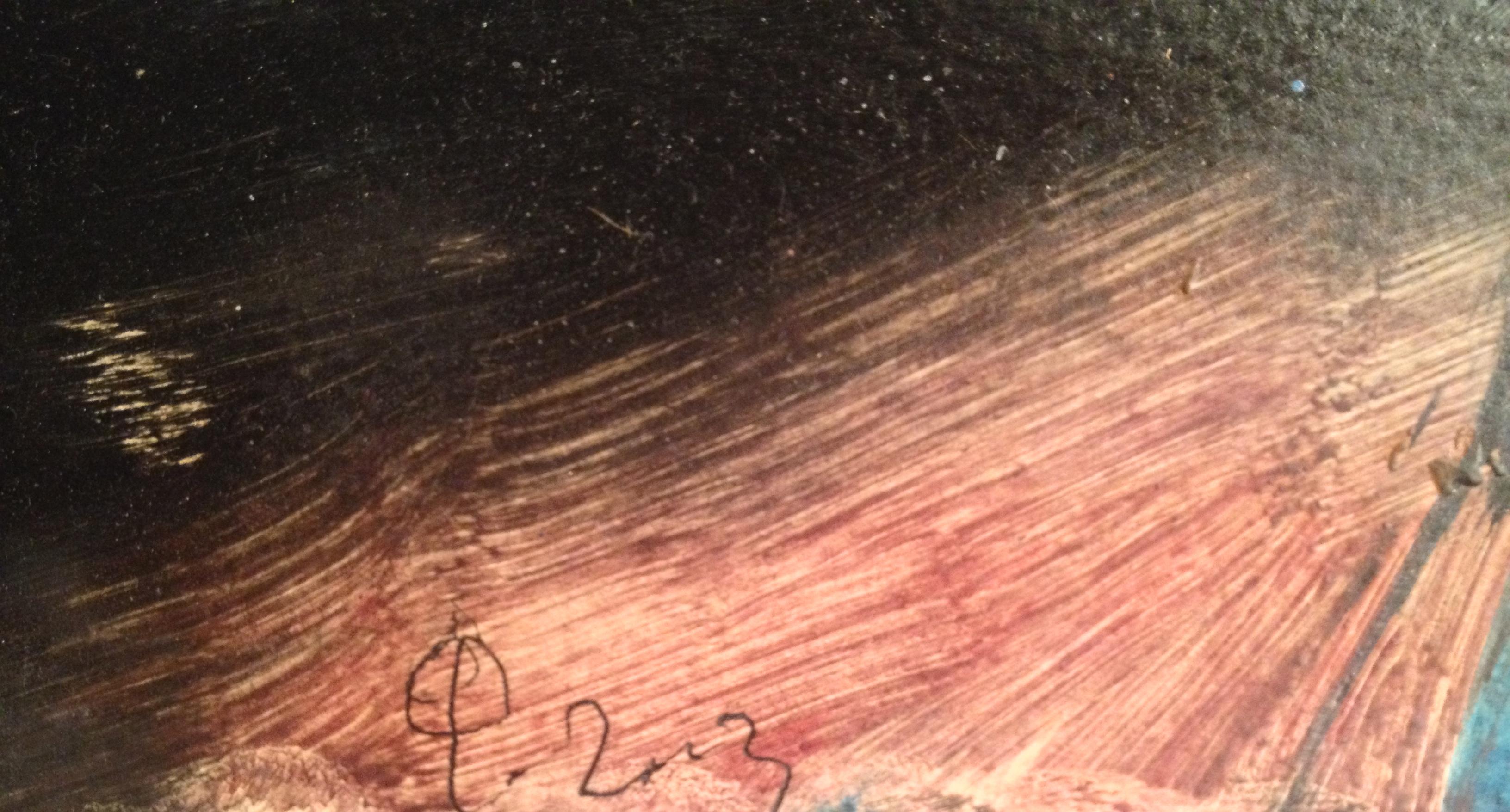 Подпись. Фейгин Моисей Александрович. Абстрактная композиция.