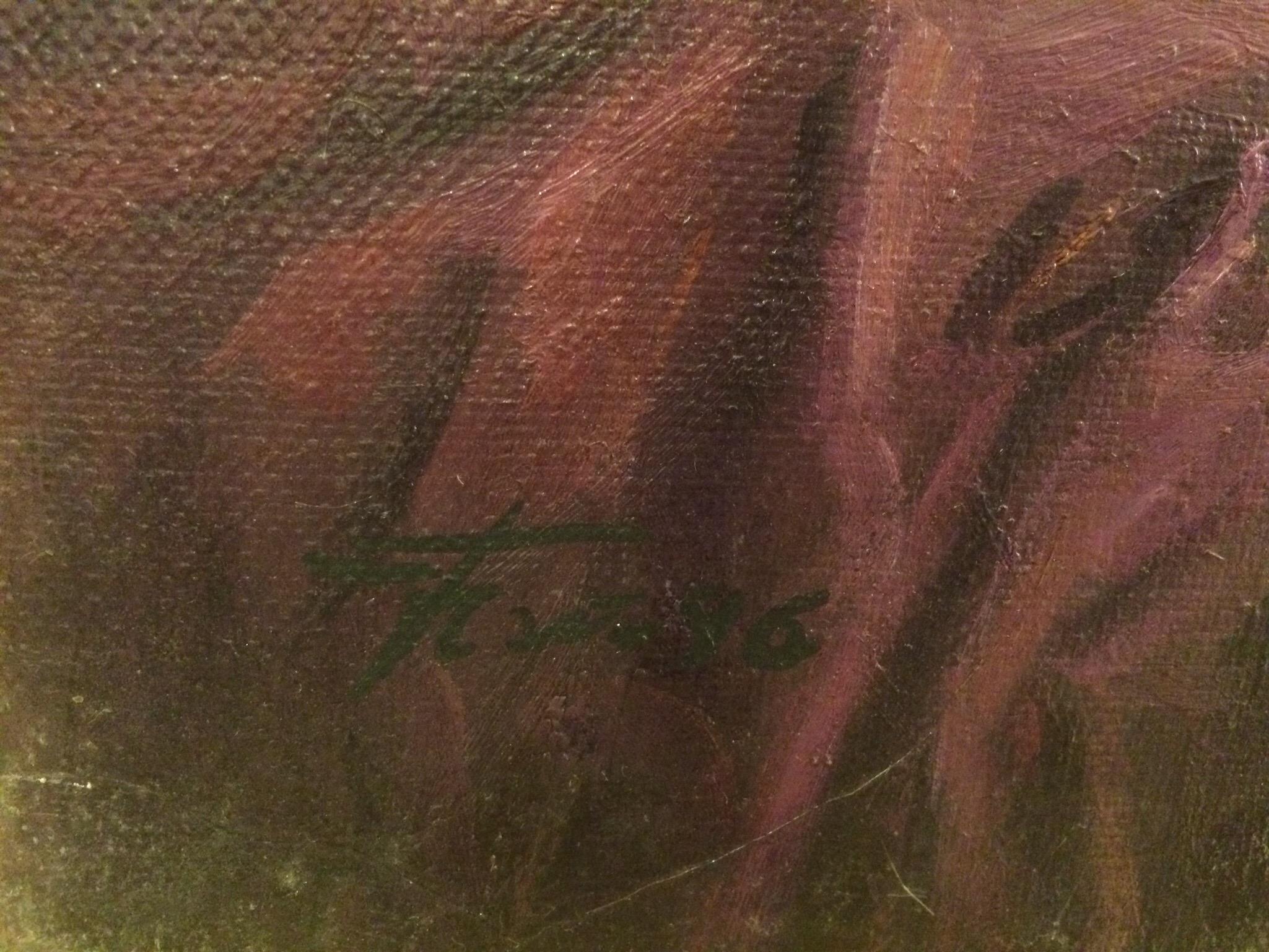Подпись. Чайников Григорий Леоньтевич. Натюрморт со статуэткой Флоры.