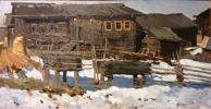 "Vladimir Fedorovich Stozharov ""Muftyuga. The old log-house."""