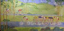 "Konstantin Petrovich Charugin ""Cyclists."""