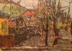 "Boris Nikolayevich Bezikovich ""Moscow Courtyard. Autumn day."""