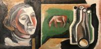 """Eleonora Aleksandrovna Zharenova """"Horse outside the window"""""""