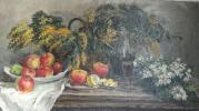 """Nina Sergeyevna Stenshinskaya """"Still life with mimosa."""""""