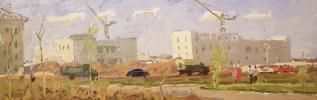 """Gennady Vasilyevich Filatov """"New buildings of the city of Zhigulevsk"""""""