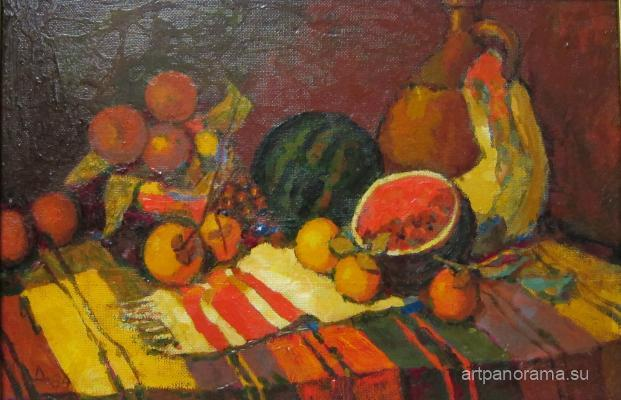 Dubrovin Dmitry Nikolayevich - Still life with persimmons.