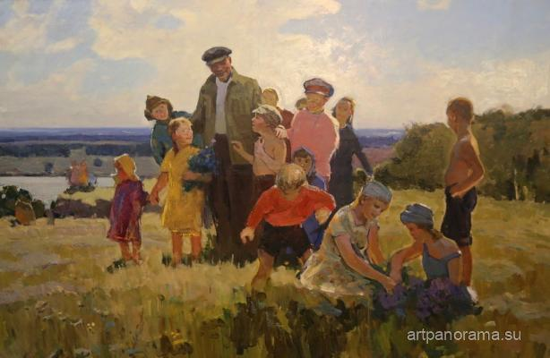 Sakhanov Aleksandr Ivanovich - Lenin with children.