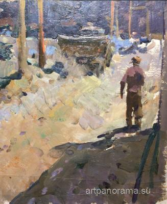 Alekseyev Adolf Yevgenyevich - At a construction site
