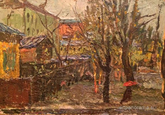 Bezikovich Boris Nikolayevich - Moscow Courtyard. Autumn day.