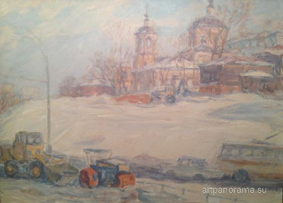 Dekhtereva Tatyana Aleksandrovna - Snow removal on the Yauza.