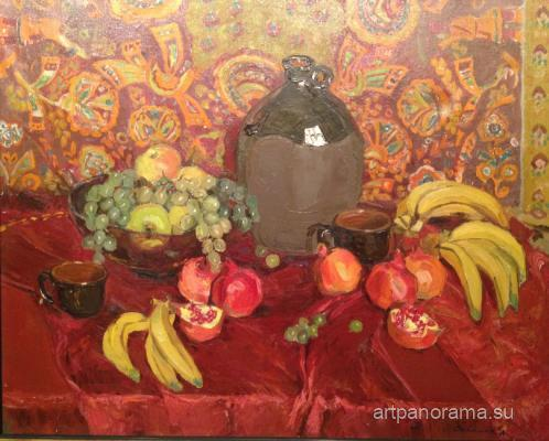 Saykina Aleksandra Vasilyevna - Still life with fruit.