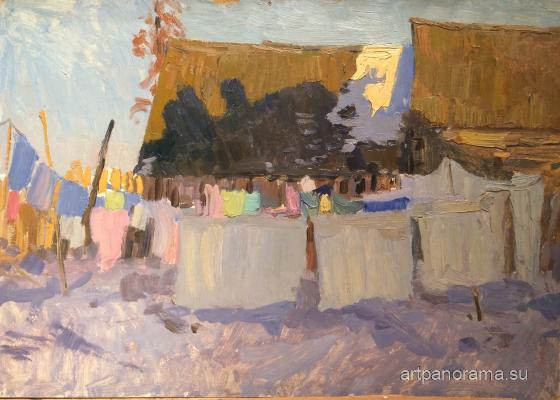 Titov Anatoly Mikhaylovich - Bucket. Drying clothes.